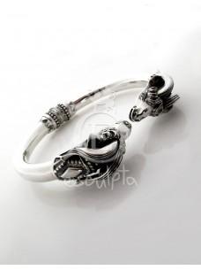 Capricorn Torc Silver Bracelet