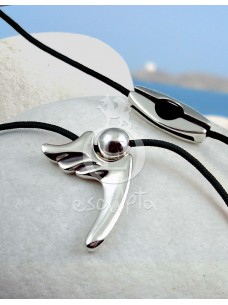 Silver Angel of Freedom Necklace