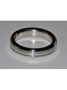 Grooved Stainless Steel Cock Ring