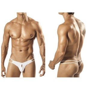 1551 Palmetto Strap Thong White