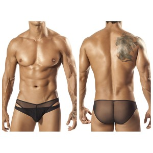 1553 Tropos Sheer Bikini Brief Black