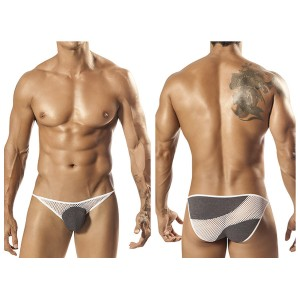 1556 Billano Bikini Brief Grey White