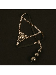 Gemstone Penis Jewelry with Hematite Beads
