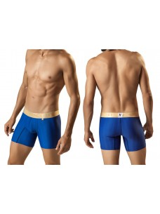 Xtremen Microfiber Boxer Brief Blue With Gold Waistband