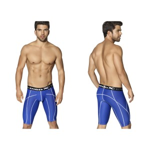 Xtremen Long Sports Boxer Royal Blue With Decorative Stitching