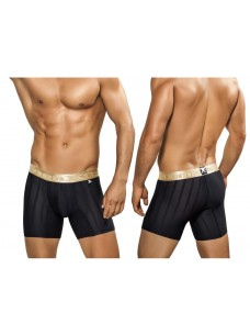 Xtremen Microfiber Boxer Brief Black With Gold Waistband