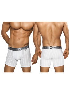 Xtremen Microfiber Boxer Brief White With Silver Waistband