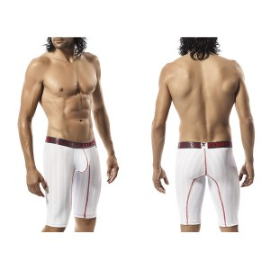 Xtremen Long Performance Microfiber Boxer White-Red