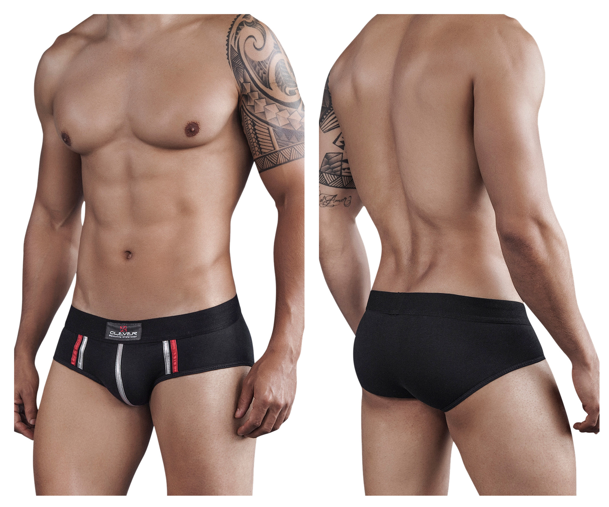 Tupac Piping Brief Black