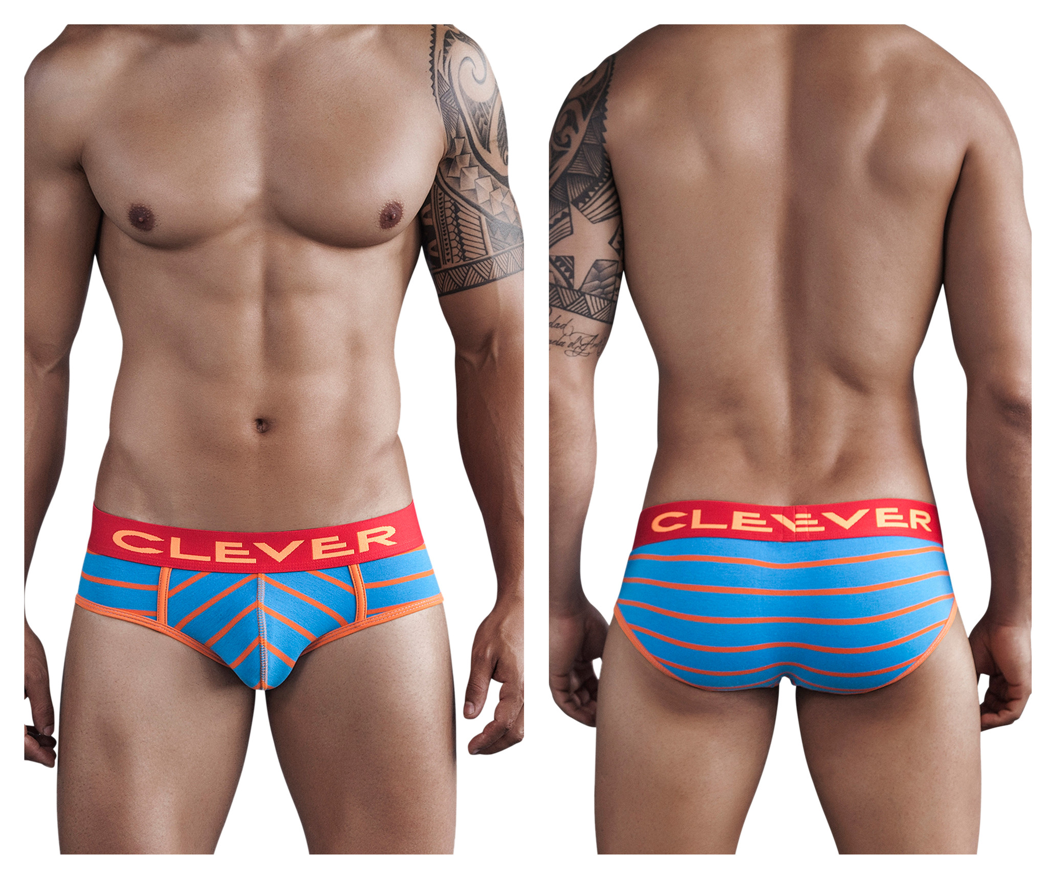 Mayan Pantheon Piping Brief Blue