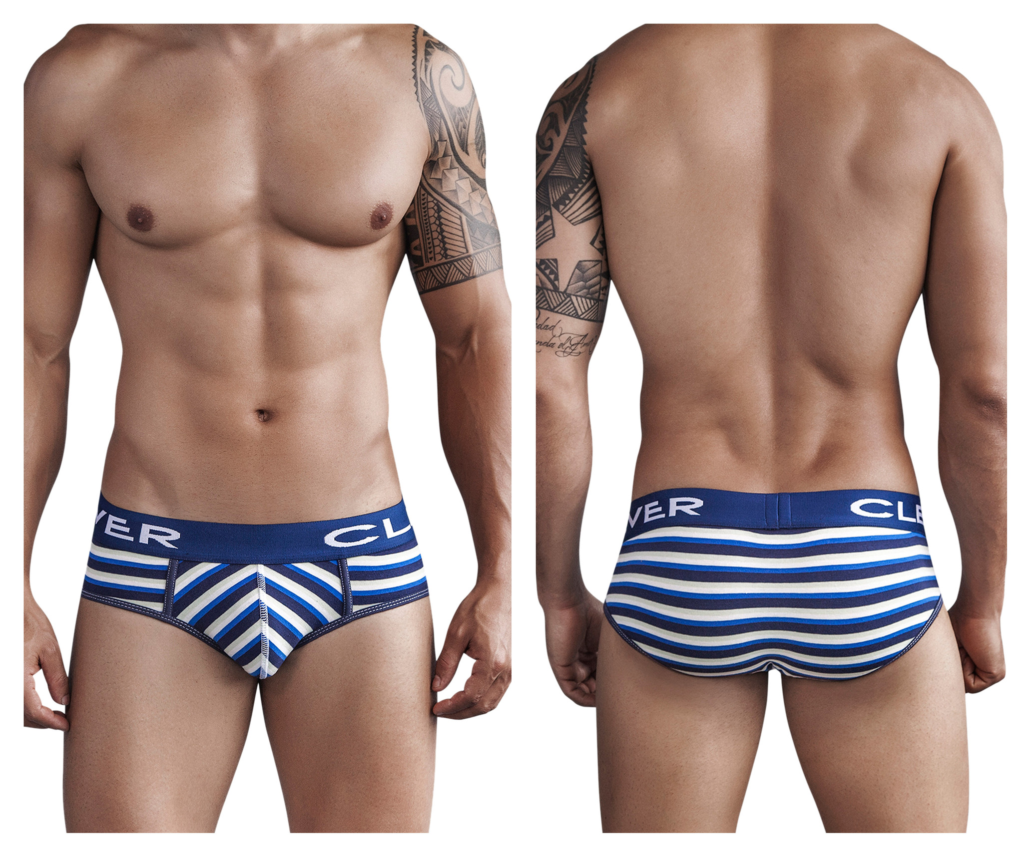 Navajo Code Piping Brief Blue