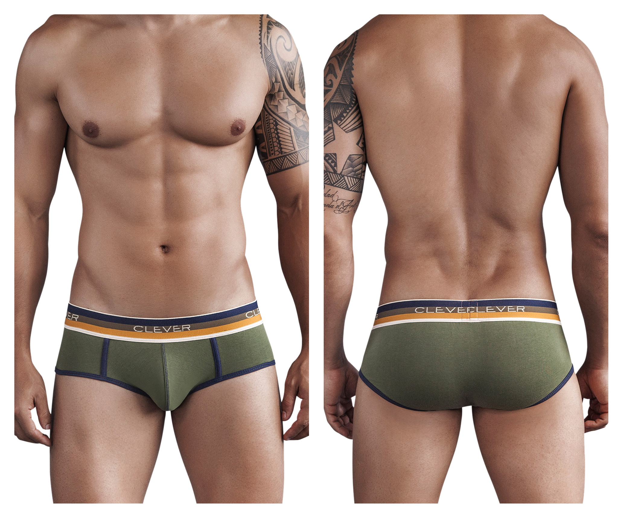 Kawa Bonga Piping Brief Green