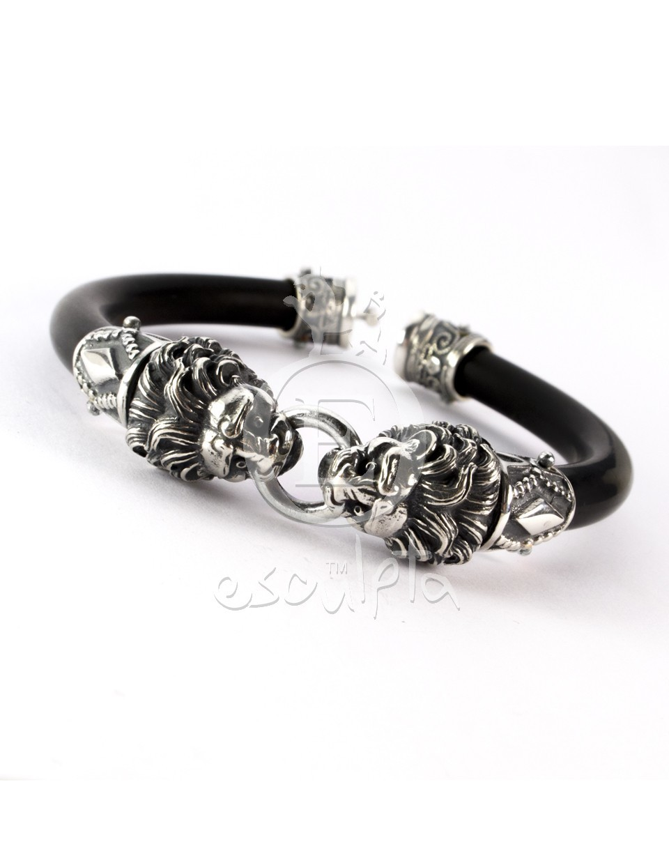 Lions Head Rubber Bracelet