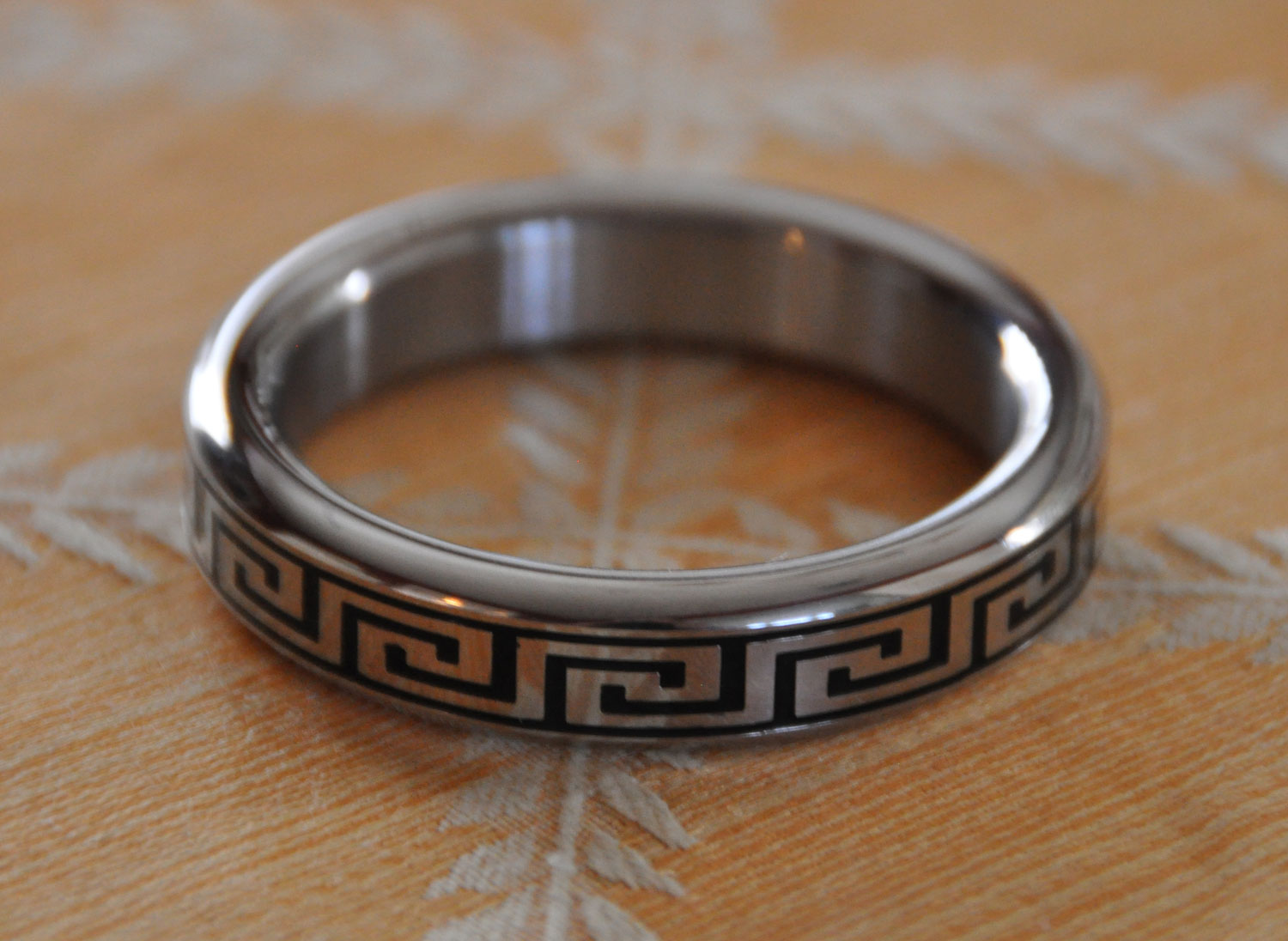 Greek Key Stainless Steel Cock Ring