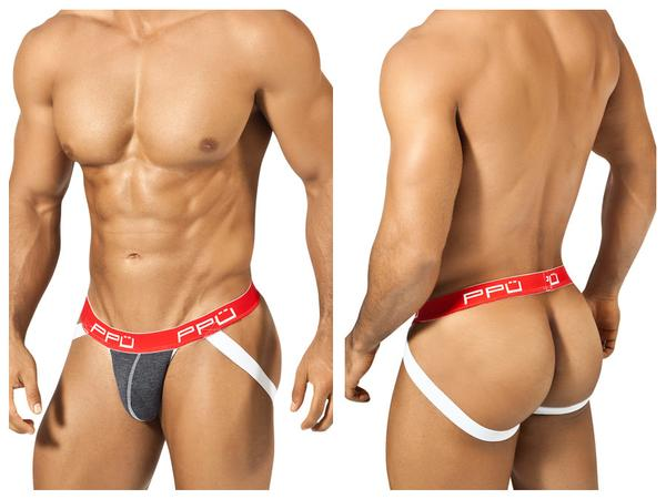 1308 Cotton Sports Jockstrap Red White