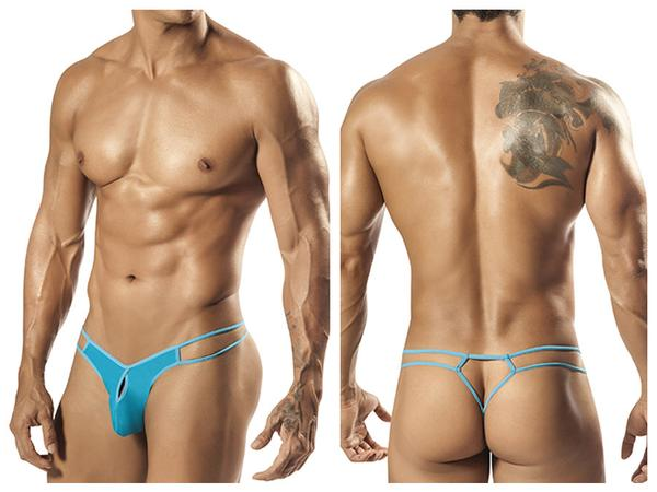 1551 Palmetto Strap Thong Turquoise