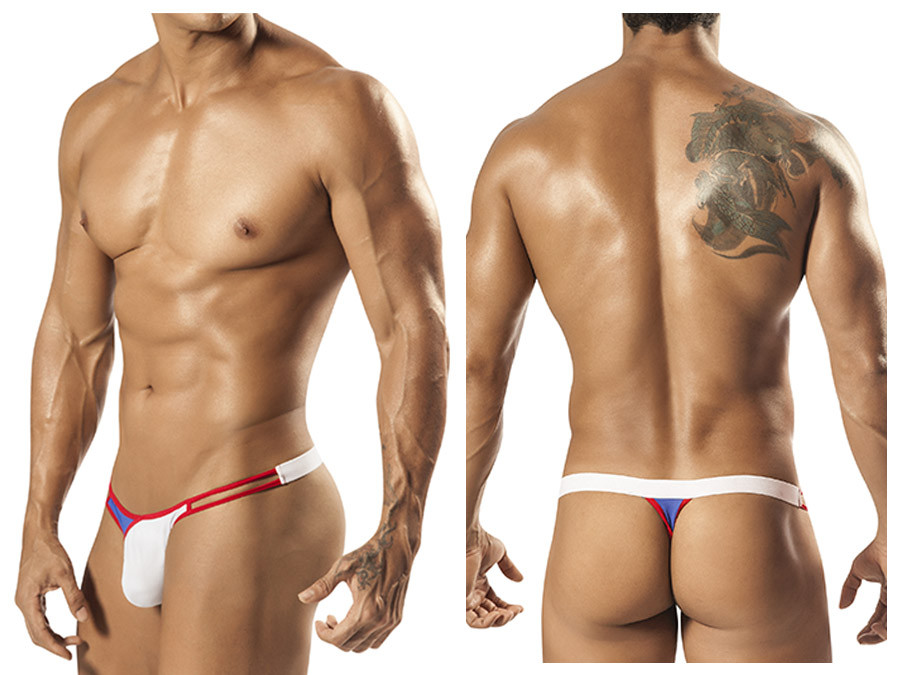 1552 Crave Strap Thong White