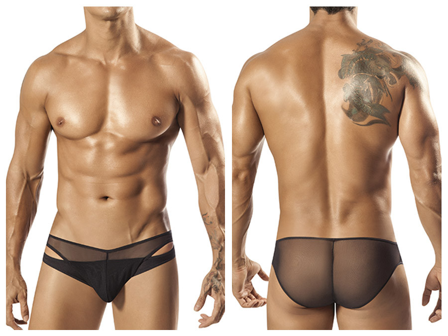 1553 Tropos Sheer Bikini Brief Black