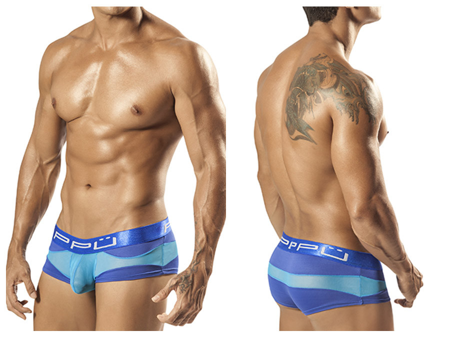 1555 Wave Brief Blue