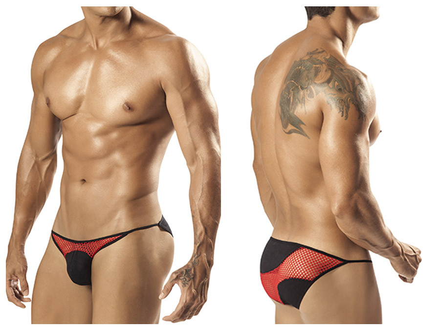 1556 Billano Bikini Brief Red Black