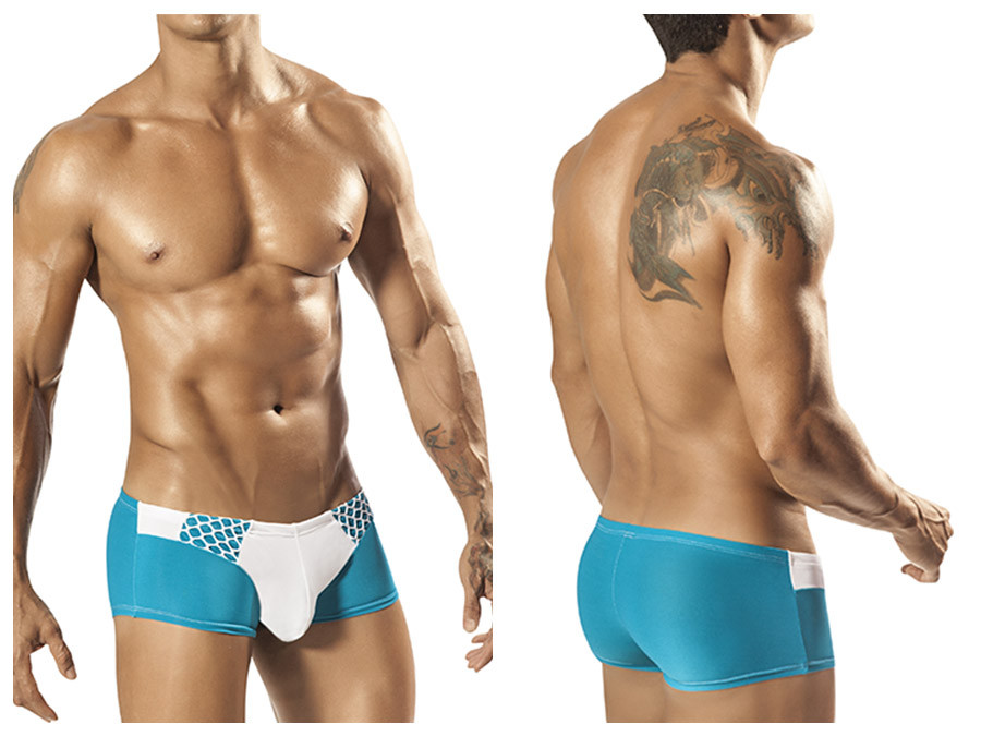 1564 Hoops Brief Turquoise