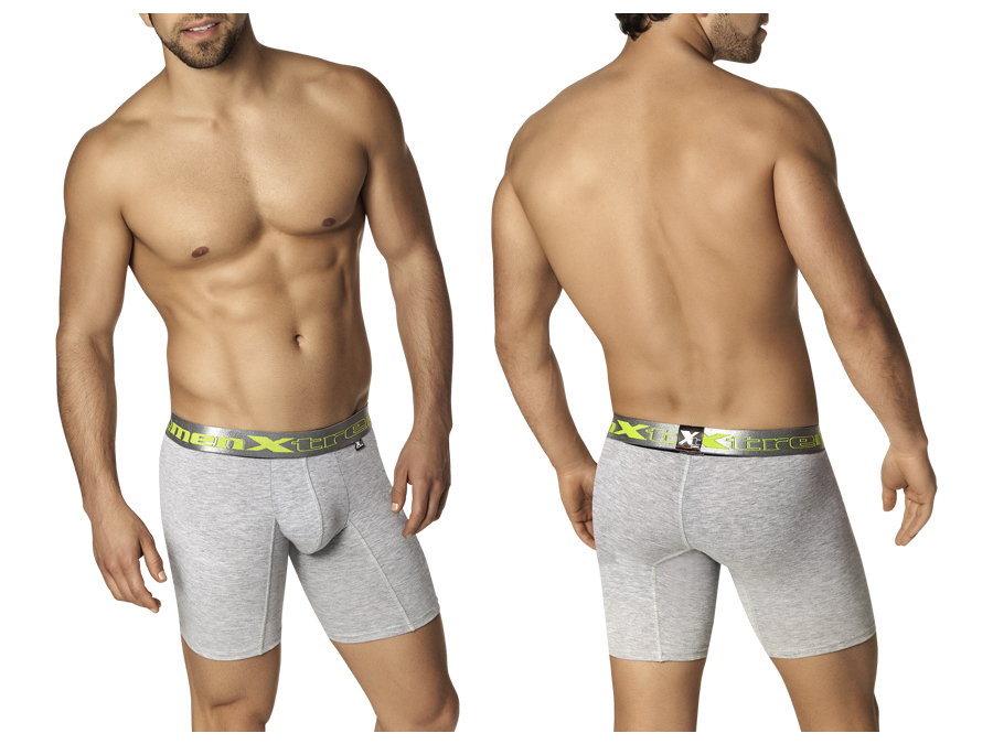 Xtremen Classic Gray Boxer With Silver Waistband