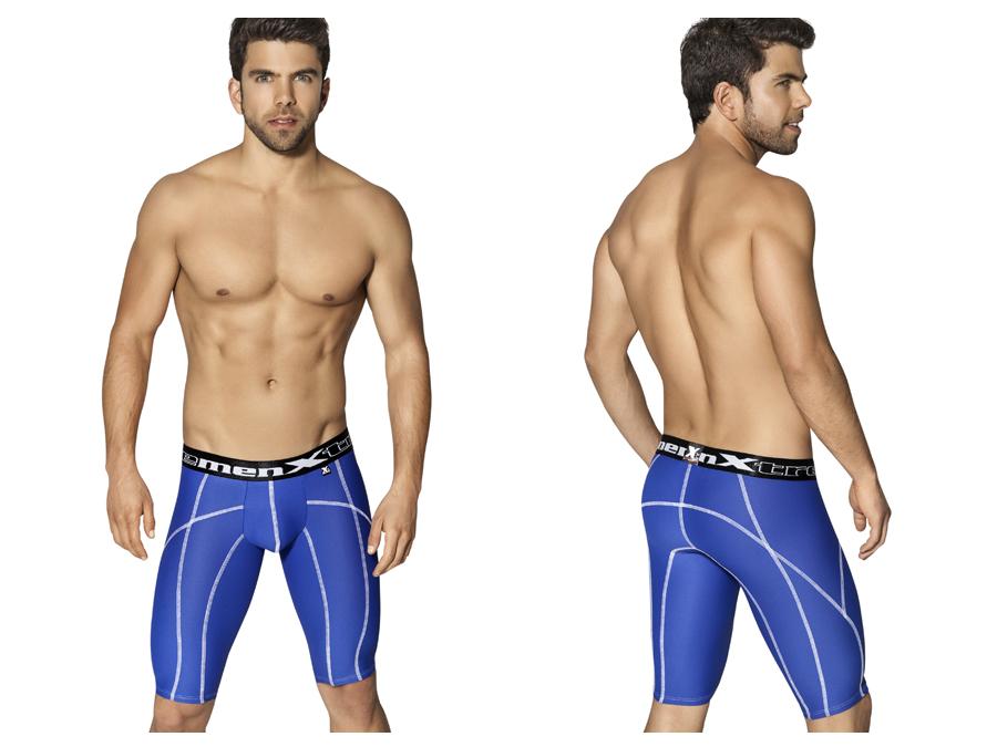 Xtremen Long Sports Boxer Royal Blue With Decorative Stitching