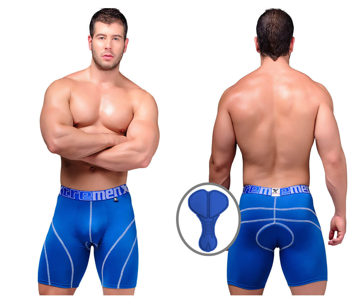 Xtremen Cycling Padded Boxer Blue 51371
