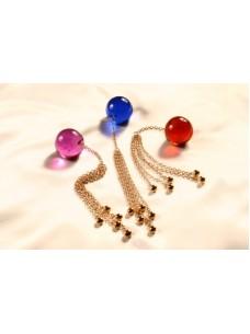 Multi Chain Crystal Anal Ball Jewelry