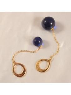 Night Blue Crystal Anal Ball Jewelry